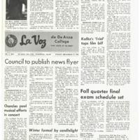 De Anza La Voz November 22 1968