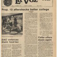 De Anza La Voz September 29 1978