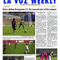 De Anza La Voz October 6 2014