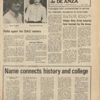 De Anza La Voz November 15 1974