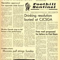 Foothill Sentinel November 4 1966