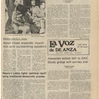 De Anza La Voz May 2 1975
