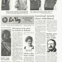 De Anza La Voz November 15 1968