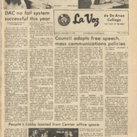 De Anza La Voz January 12 1973