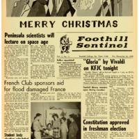 Foothill Sentinel December 18 1959