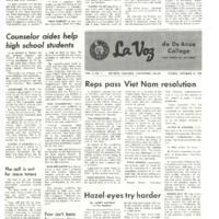De Anza La Voz October 17 1969