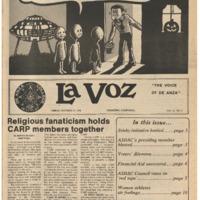 De Anza La Voz October 27 1978