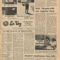 De Anza La Voz May 21 1971