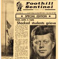 Foothill Sentinel November 26 1963