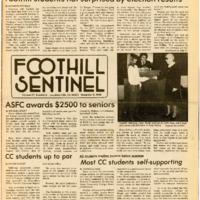 Foothill Sentinel November 9 1984