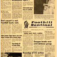 Foothill Sentinel March 25 1960