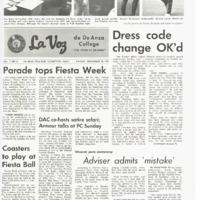 De Anza La Voz November 10 1967