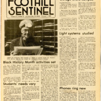 Foothill Sentinel February 1 1985