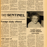 Foothill Sentinel May 20 1977