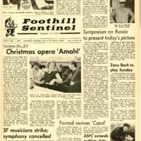 Foothill Sentinel December 1 1967