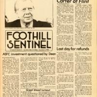Foothill Sentinel November 2 1984