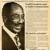 Foothill Sentinel October 9 1981