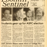 Foothill Sentinel February 24 1984