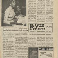 De Anza La Voz January 24 1975