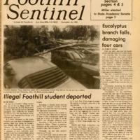 Foothill Sentinel November 18 1983